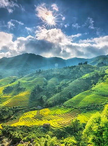 Sa Pa, Vietnam This stunning mountain town sits just below the Chinese border. And the view? Those are the vertical rice terraces of the Muong Hoa Valley.