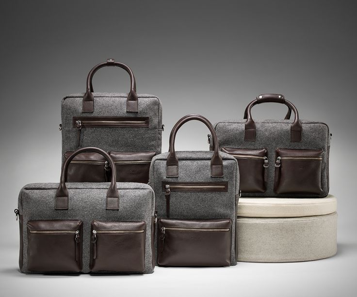 Travel&Office bags made in leather and burel.  Orders: sales@burelfactory.com