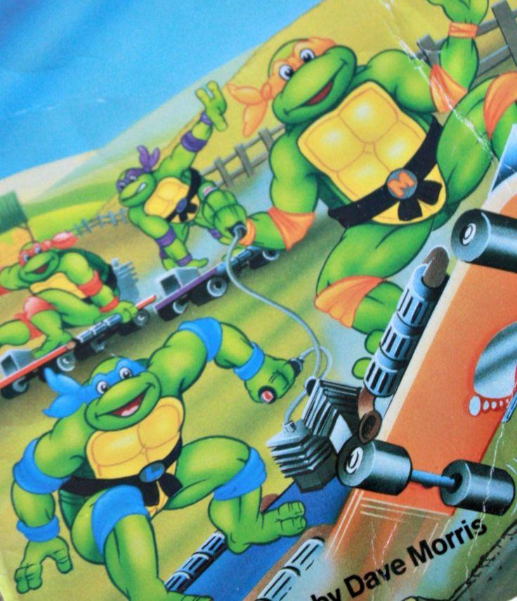 Tortue Ninja roman en anglais 1991, Tortue Ninja la ferme des dinosaures, TMNT 1990, 90s film, Cadeau geek, Tmnt livre, Cadeau enfant de la boutique PastelEtPixel sur Etsy