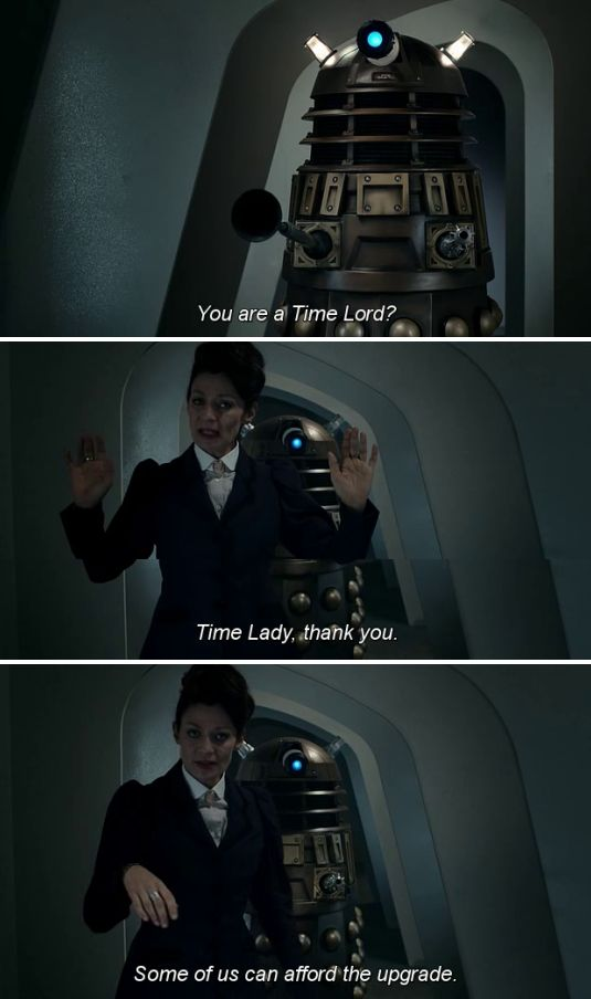 You just got Missy Cybermanned!