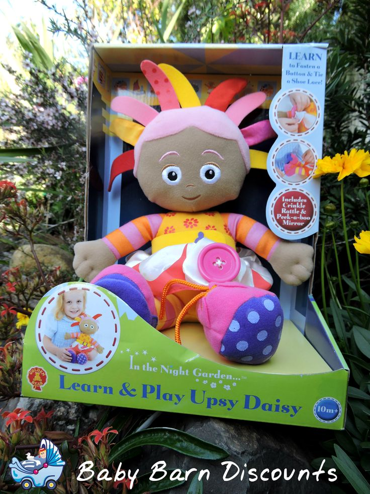 Upsy Daisy Activity Toy is filled with lots of fun features for your little ones to discover! Includes rattle, buckle, button, laces and lots of different.