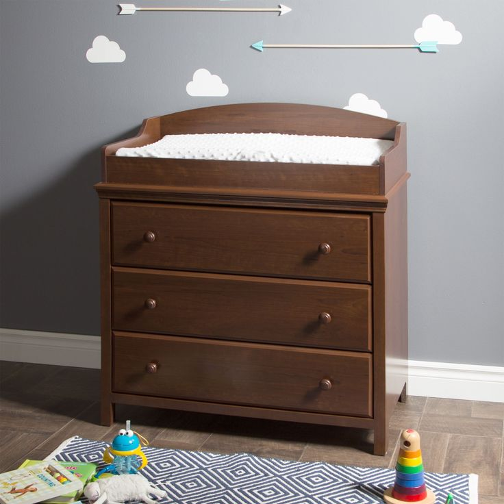 South Shore Cotton Candy Changing Table With Drawers (Cherry   Cherry  Finish), Brown