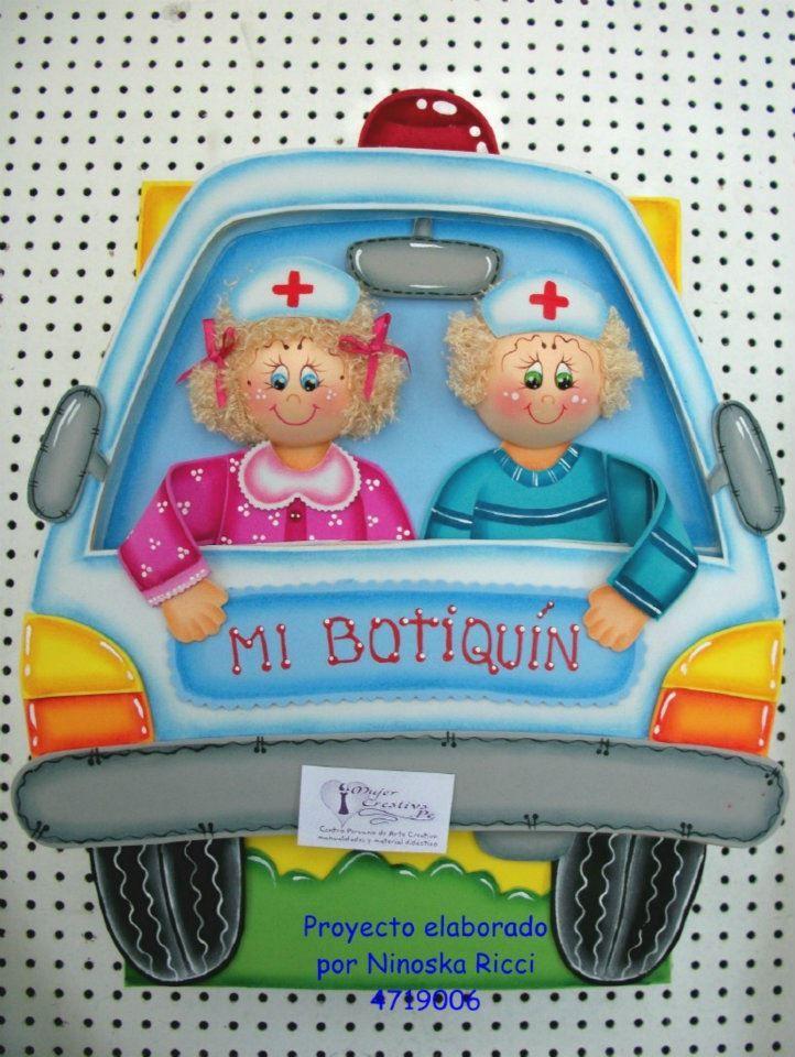 Moldes gratis Mi Botiquín Cartel para decoración de aula en goma eva, mi botiquín. Para decorar el botiquín de primeros auxilios de los niños.  Credi