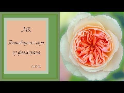 Пионовидная роза (мастер класс). - YouTube