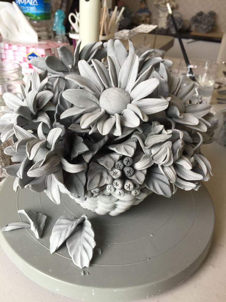 Sunflower ceramic