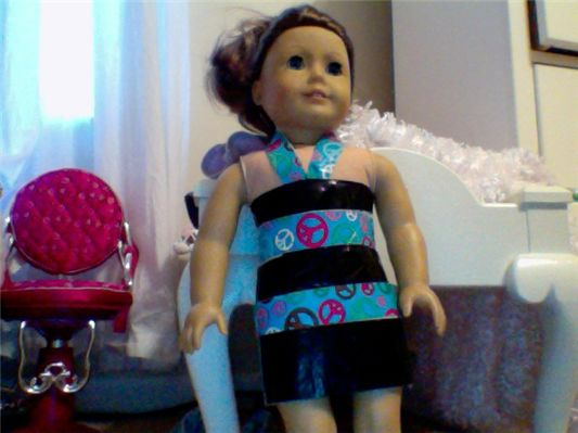 ductape-american-girl-dress want one in my size! lol