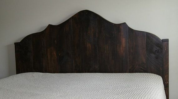 Curved Headboard Rustic Vintage Plank King Size On