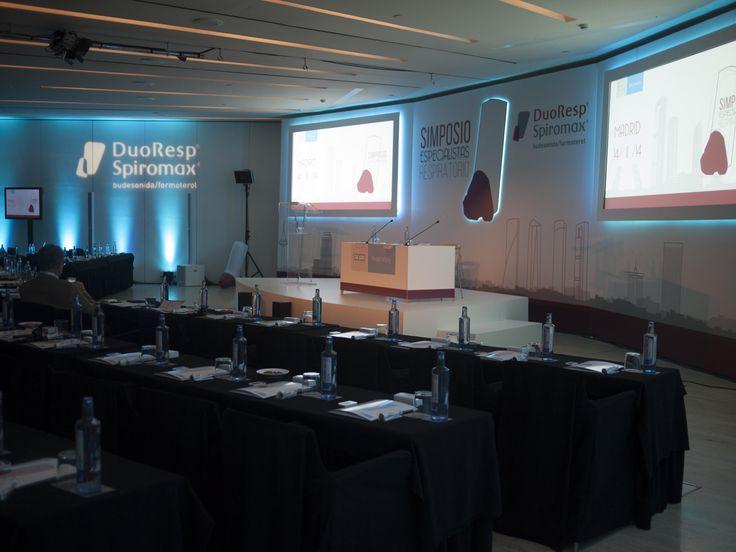 Detalle escenario. Evento TEVA. Madrid, Noviembre 2014.