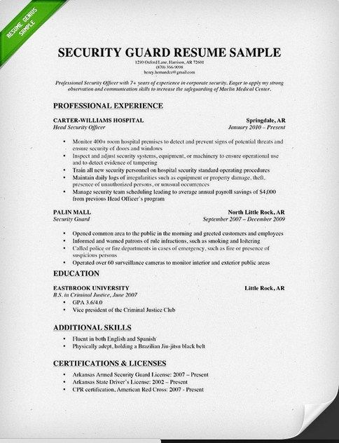7 best Good Resume Examples images on Pinterest Good resume - security objectives for resume