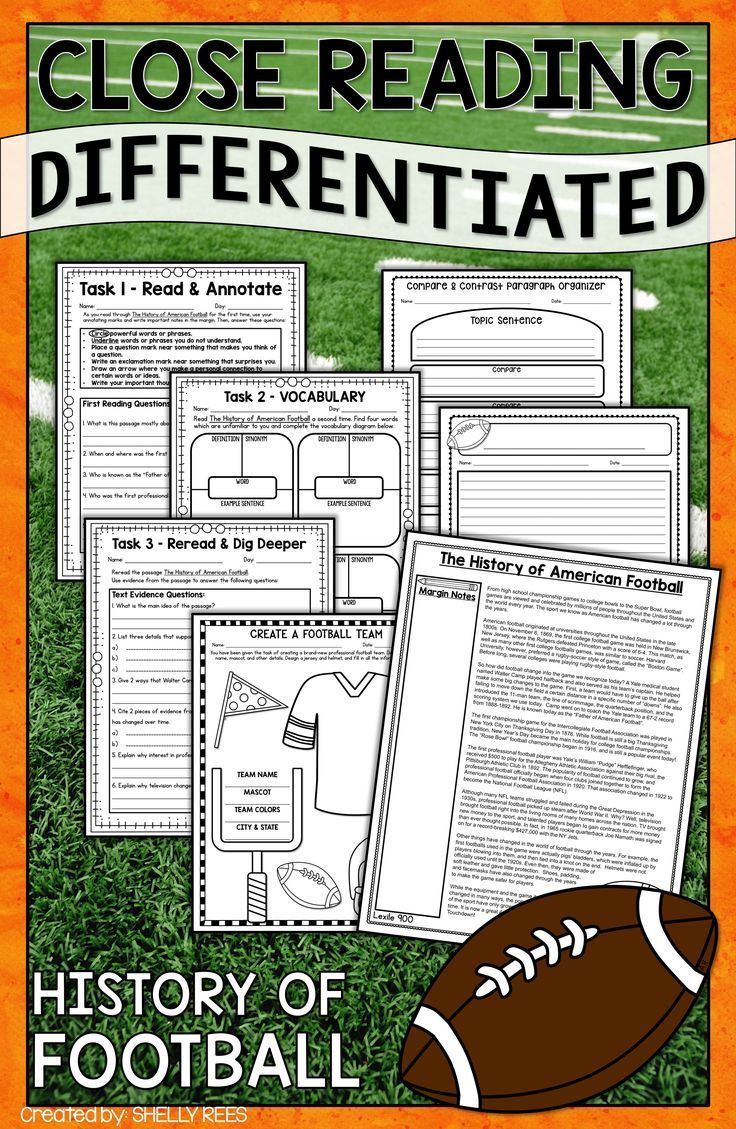 History Of Football Reading Activity Is Fun For Students In 3rd 4th 5th And 6th Reading Comprehension Differentiated Reading Differentiated Reading Passages [ 1129 x 736 Pixel ]