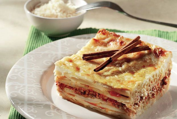 Pastitsio is Greek Lasagna. Makes a delicious hearty meal when served with a fresh Greek salad.