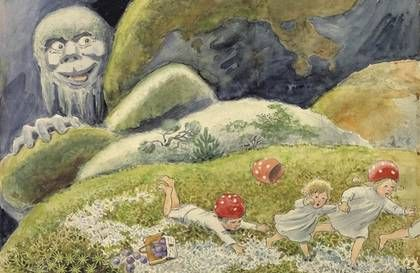 Elsa Beskow (1874-1953) was a Swedish author and illustrator of children's books