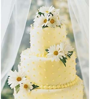 Bolo de casamento margaridas