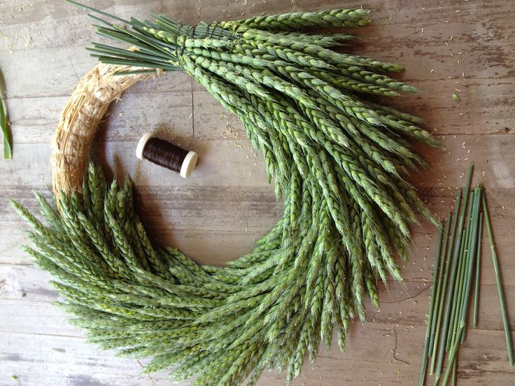 INSPIRATION: Winter Wheat wreath