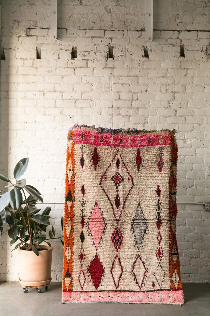 THE STING boucherouite vintage moroccan berber carpet
