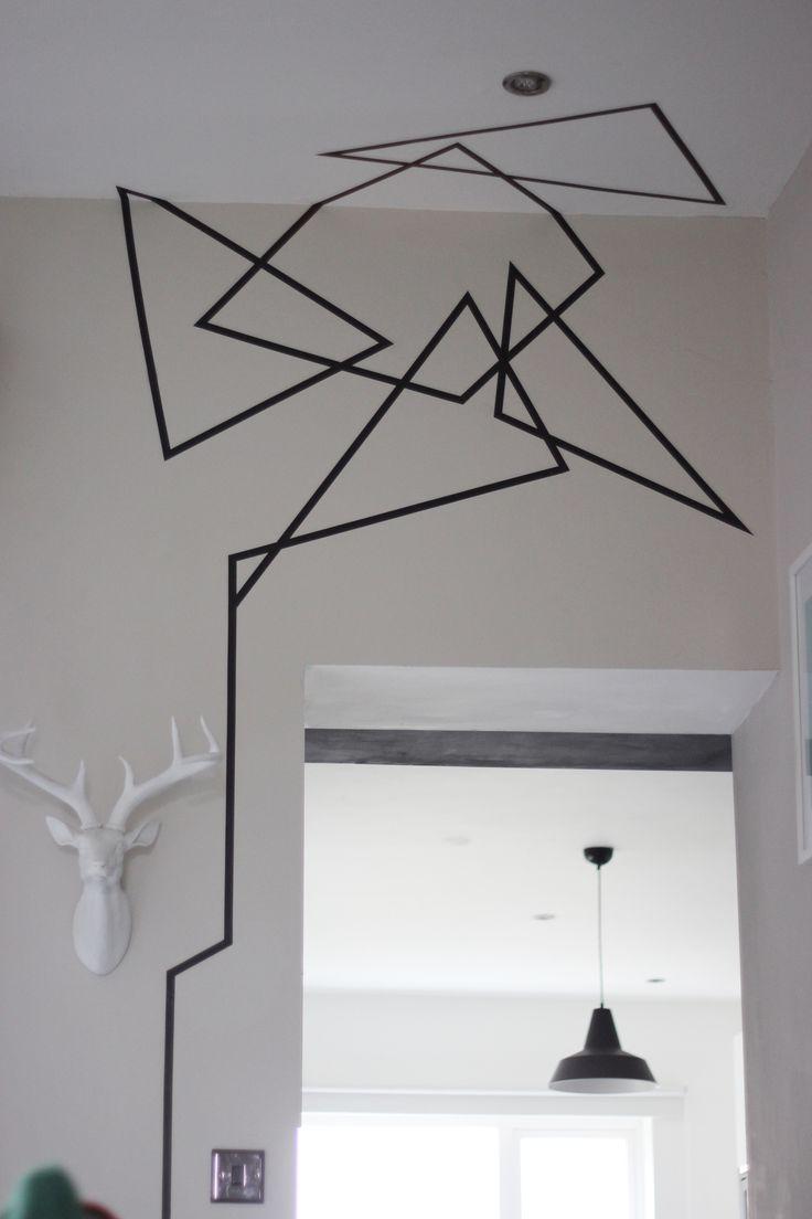 geometrical washi tape wall design - DIY/ April and the Bear