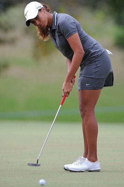 Cheyenne Woods of the United States putts during day one of the 2014 Ladies Masters at Royal Pines Resort on February 6, 2014 on the Gold Coast, Australia.