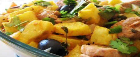 Receitas Típicas Portuguesas - Com esta receita aprenda a preparar uma típica e tradicional Carne de Porco à Alentejana.