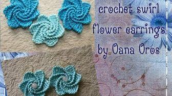 DIY Crochet Earrings #2 - YouTube