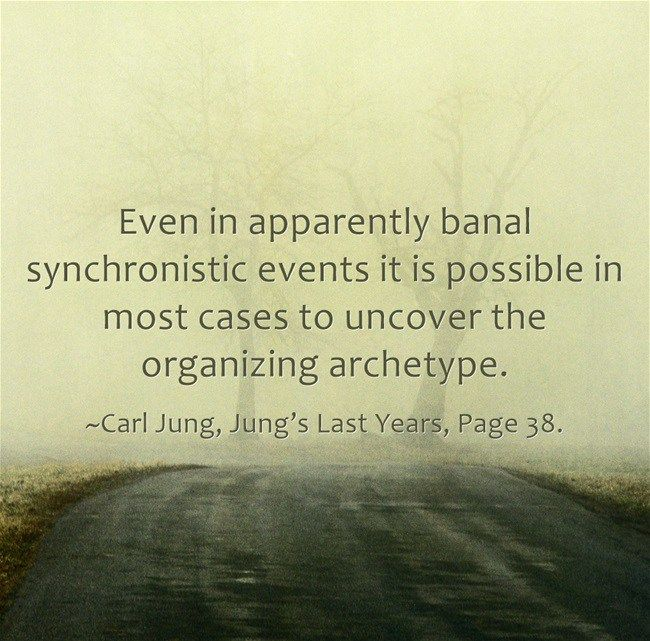 """Jung expressly emphasized, however, that the principle of synchronicity should be applied only when a causal explanation is unthinkable. """"For, whenever a cause is even remotely thinkable, synchronicity becomes an exceedingly doubtful proposition .. """" ~Aniela Jaffe, Jung's Last Years, Page 20. In the last essay he wrote before he died, Jung recapitulated the salient …"""