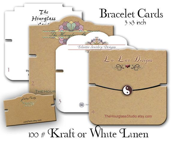 Bracelet+Cards+Custom+Bracelet+Cards+by+TheHourglassStudio+on+Etsy