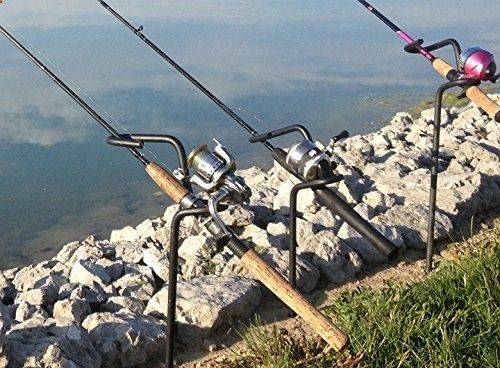 Fishing Rods - 3 Pack Heavy Duty Bank Fishing Rod Holders