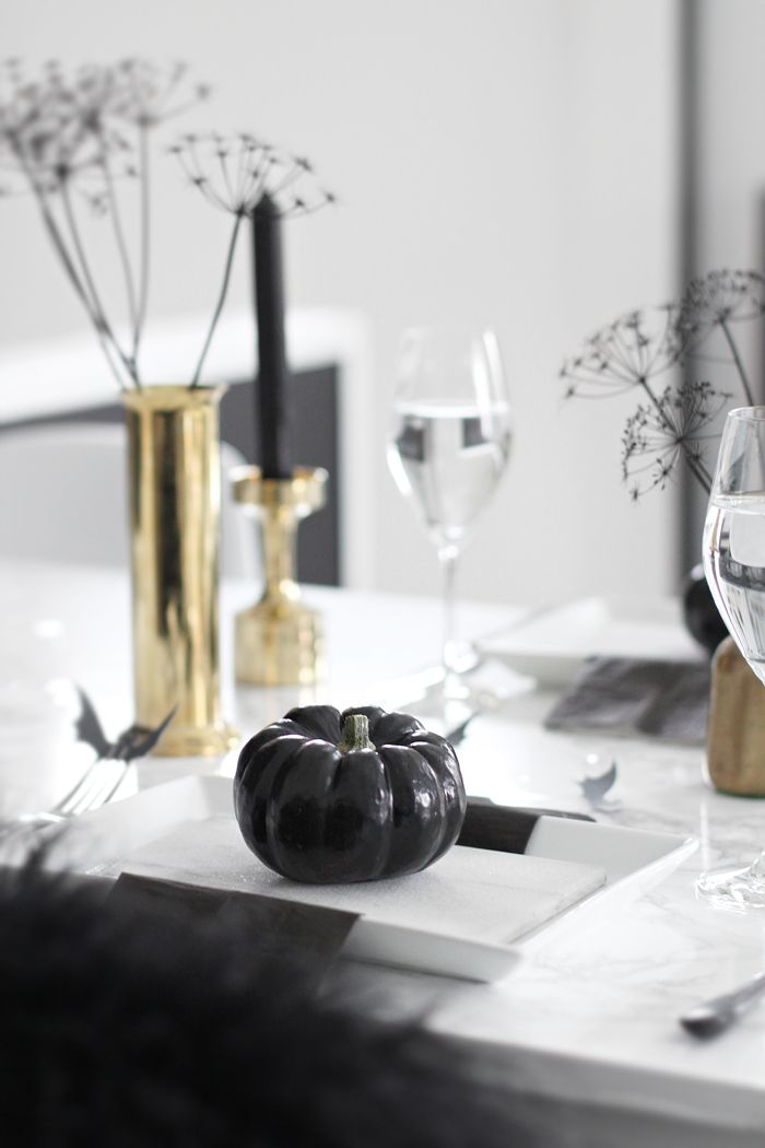 Halloween, tablesetting