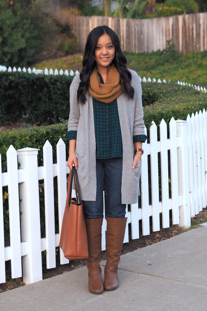5 Outfits With a Grey Cardigan - Putting Me Together 4b425fbc5