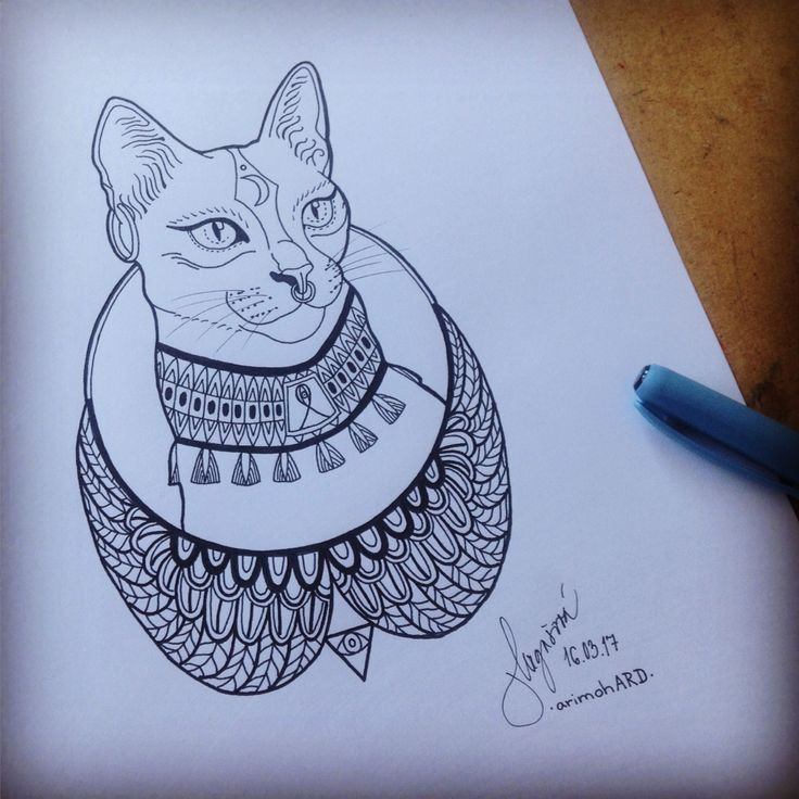 #cat #drawing #egypt #arimohard #2017 #tatto