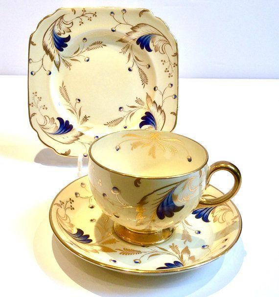 Description Jackson And Gosling Quality English Fine Bone China British Made In England A Stunning Art Deco Styl Tea Cups Vintage Tea Cups Bone China Tea Cups