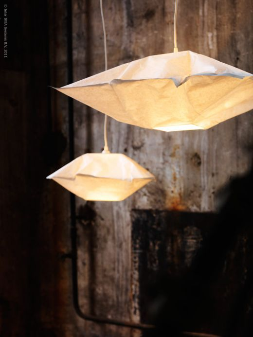 lovely floating lamps