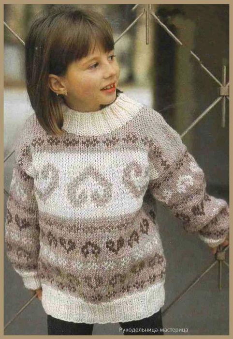 Озорные петельки: Спортивный пуловер для мальчиков и девочек.
