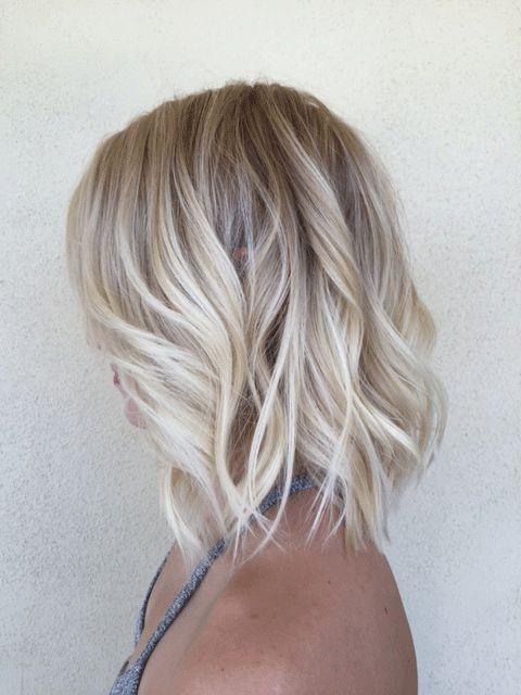 Hot Blonde LOB - Hair Color - Modern Salon
