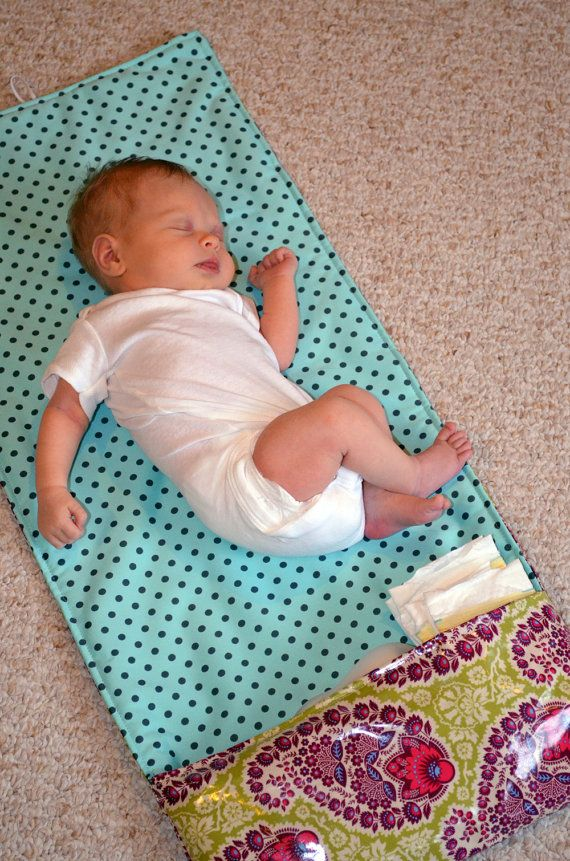 Diaper Changing Pad Clutch Sewing Pattern for Baby by jordanapaige
