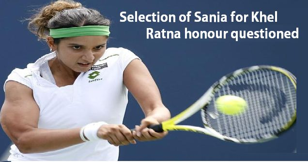 The selection of tennis player Sania Mirza for Rajiv Gandhi Khel Ratna award for 2015 was questioned by the paralympian, H.N Girisha.