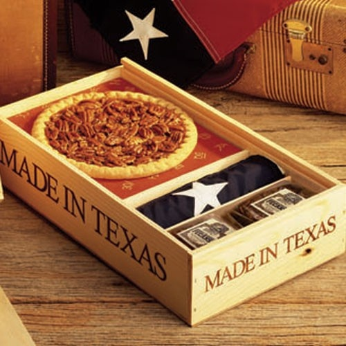 pure texas gift box the pie is a smaller 8 inch version. Black Bedroom Furniture Sets. Home Design Ideas