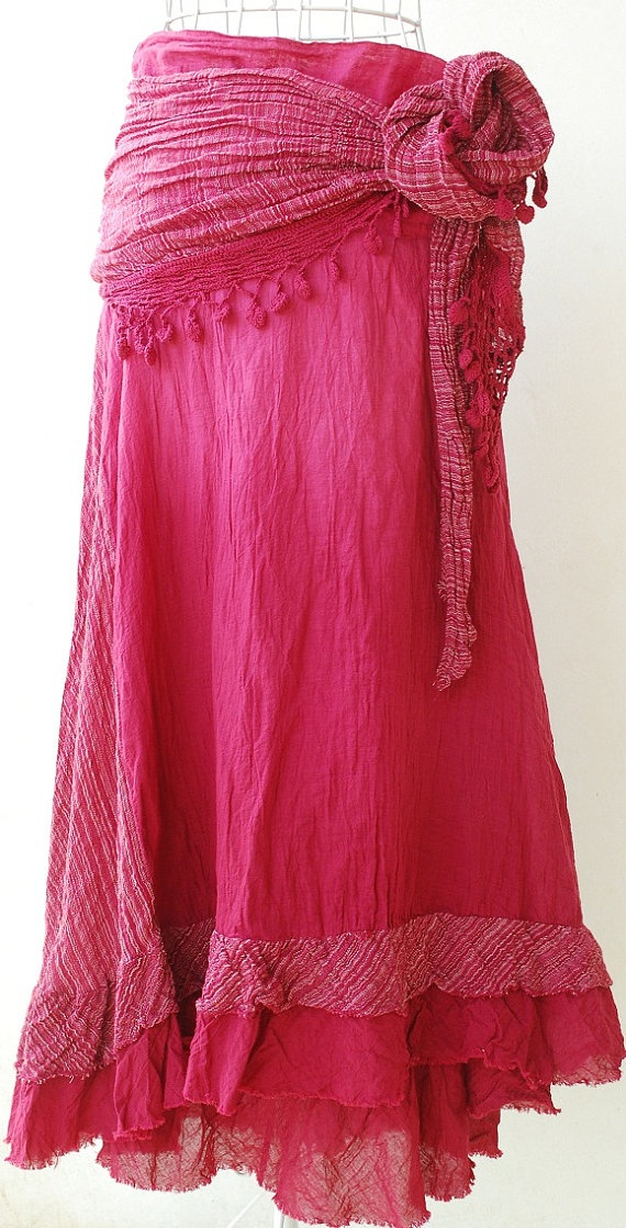Gypsy skirt. Love everything about this skirt except the big bow/knot. I would make it a little smaller.