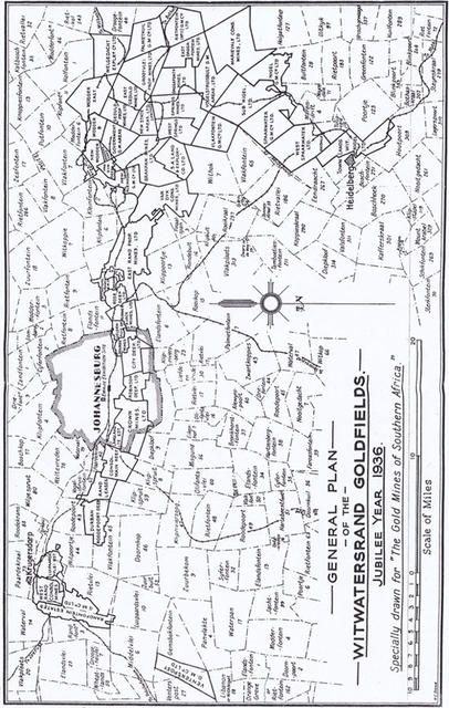 General plan of the Witwatersrand 1936