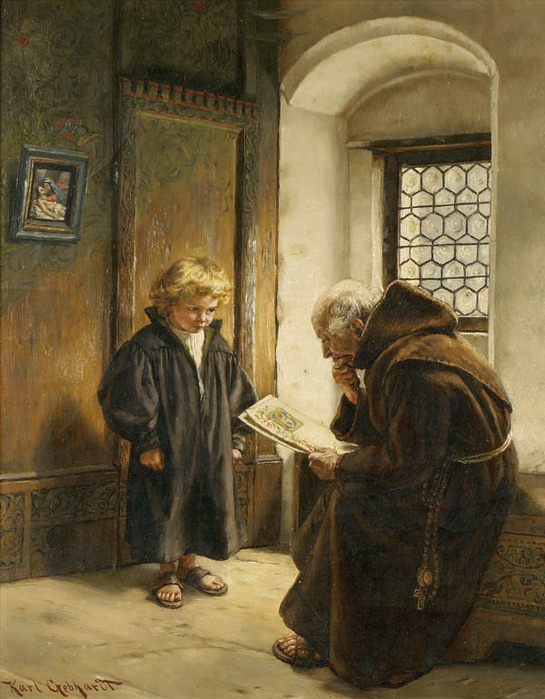 Karl Gephardt (1860 - 1917) — The young scribe   (545×699):