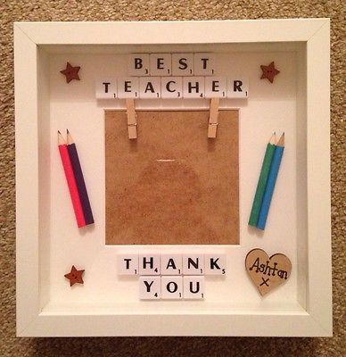 Personalised Scrabble Frame Teacher Mentor School Nursery Thank You Keepsake