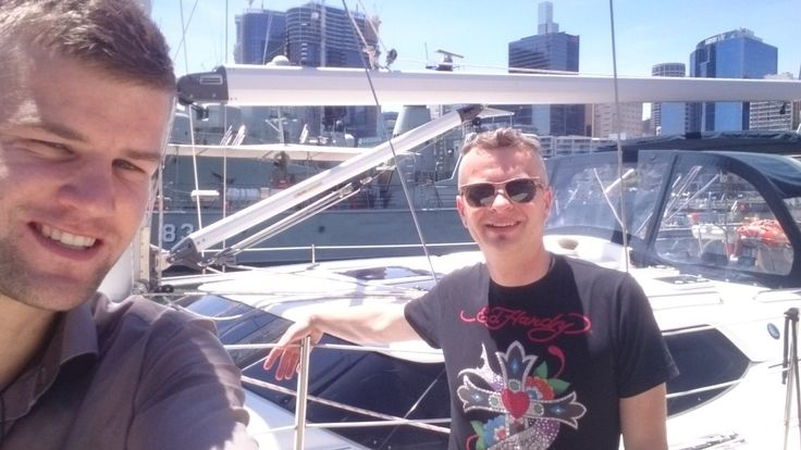 Rehearsing for our big trip around Sydney :) My friend Saso has skipper license his dream is to buy one of boats. He is more experienced than I think believe me I can't wait to join him on boat trip :) http://ift.tt/1QuyIN2