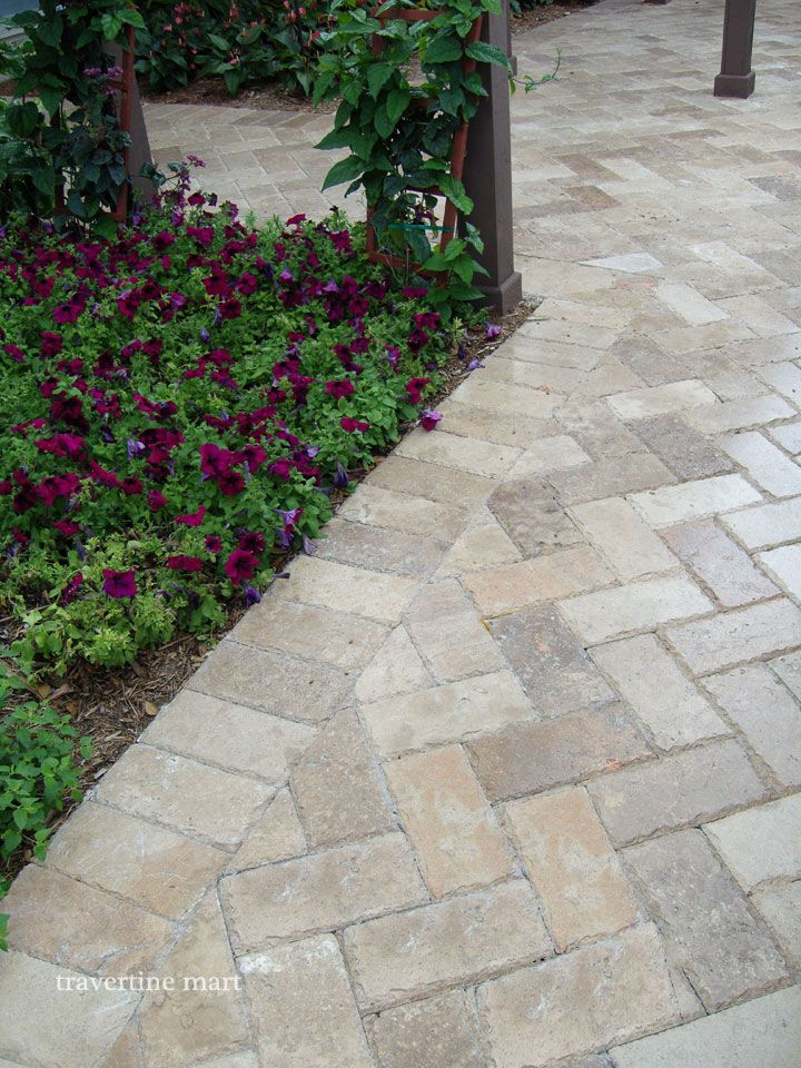 chiseled travertine pavers - Google Search
