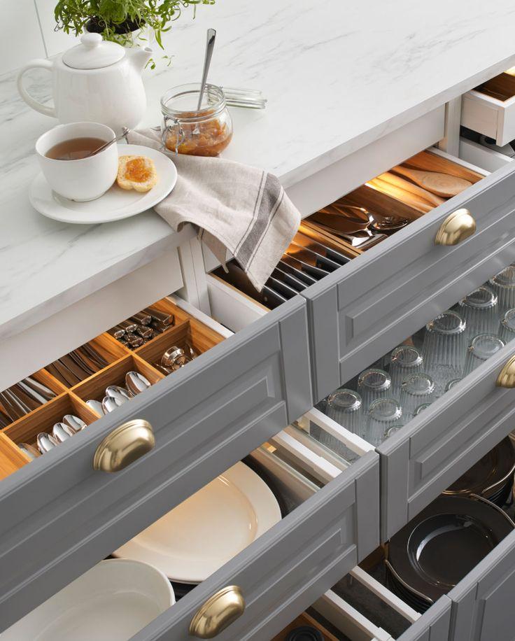 amenagement tiroir cuisine ikea tiroirs a nouvelle cuisine ikea metod avec un lave vaisselle. Black Bedroom Furniture Sets. Home Design Ideas