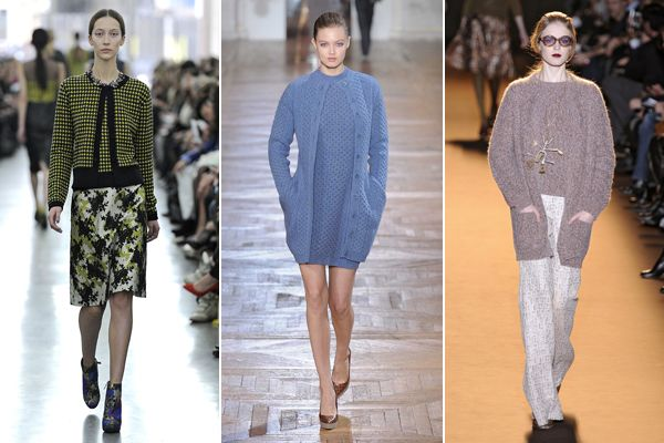 Stop the presses: Europe's runways say that sweater sets are in for Fall 2012!