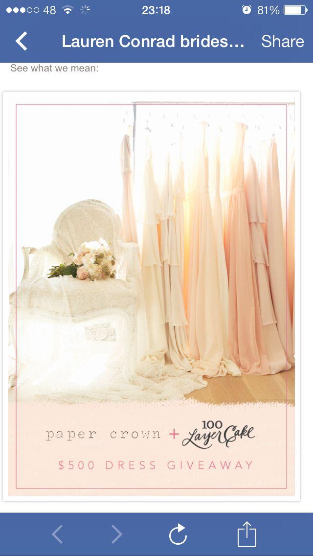 100 Layer Cakes Lauren Conrad Paper Crown Bridesmaid Dresses