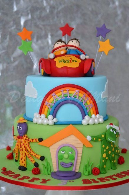 WIGGLES & THE BIG RED CAR BIRTHDAY CAKE Cake by designed by mani