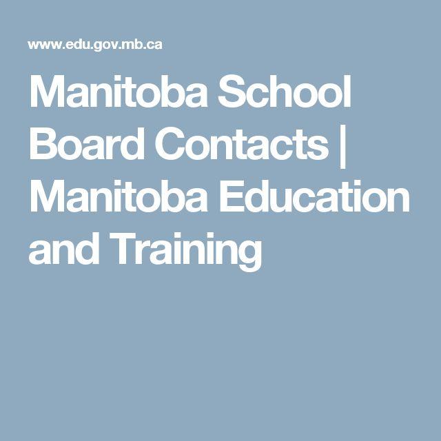 Manitoba School Board Contacts | Manitoba Education and Training