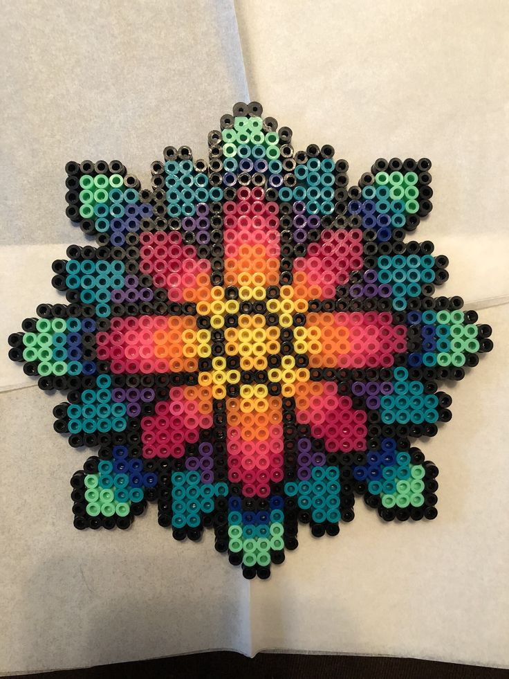 Excited to share the latest addition to my #etsy shop: Mandala perler bead Kandi necklace rave plur edm #kandi #perler #jewelry #bead #mandala #edc #rave #plurfectbymarina