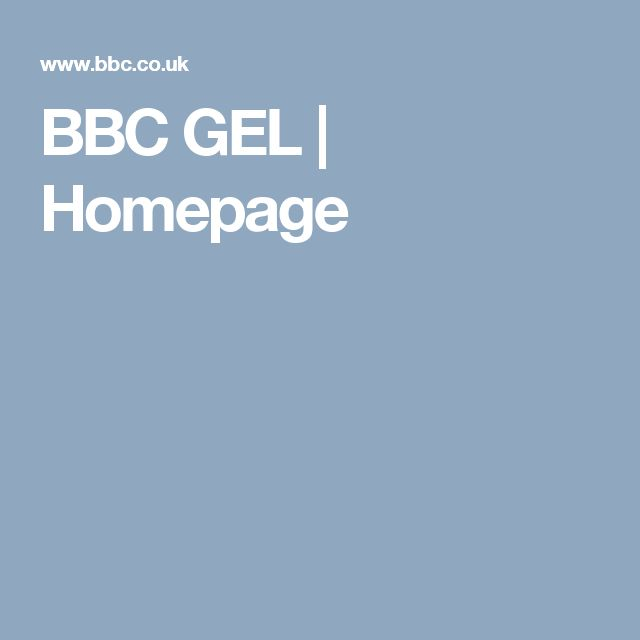BBC GEL | Homepage