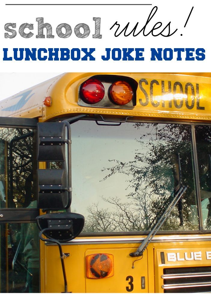 school RULES! super-silly lunchbox joke notes | free 3-page printable from http://teachmama.com #weteach